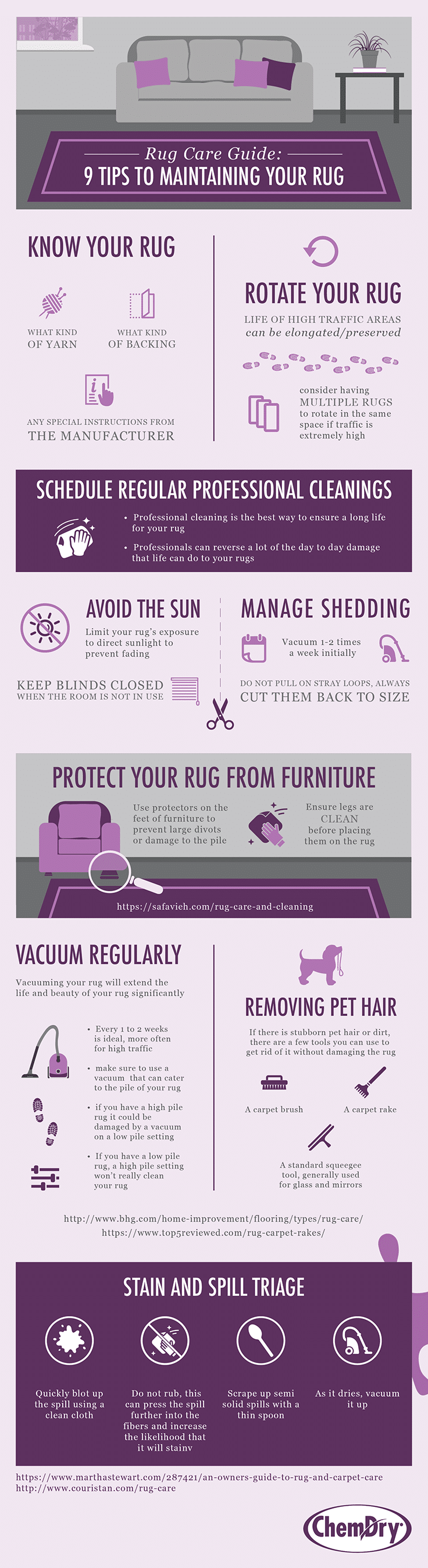 rug cleaning infographic